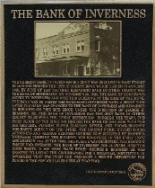 Bank of Inverness plaque