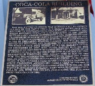 Coca Cola Building Plaque