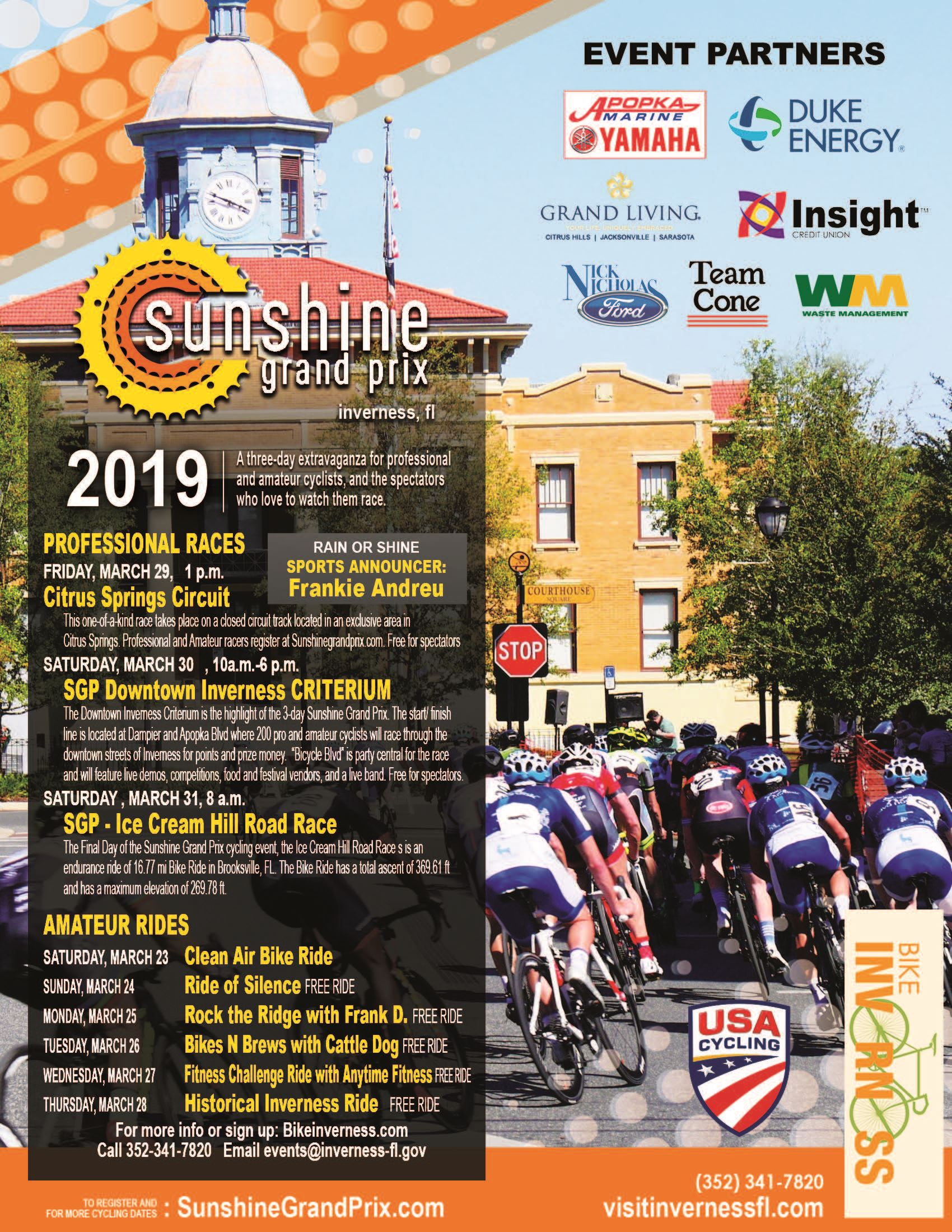 Overall Bike Events Poster